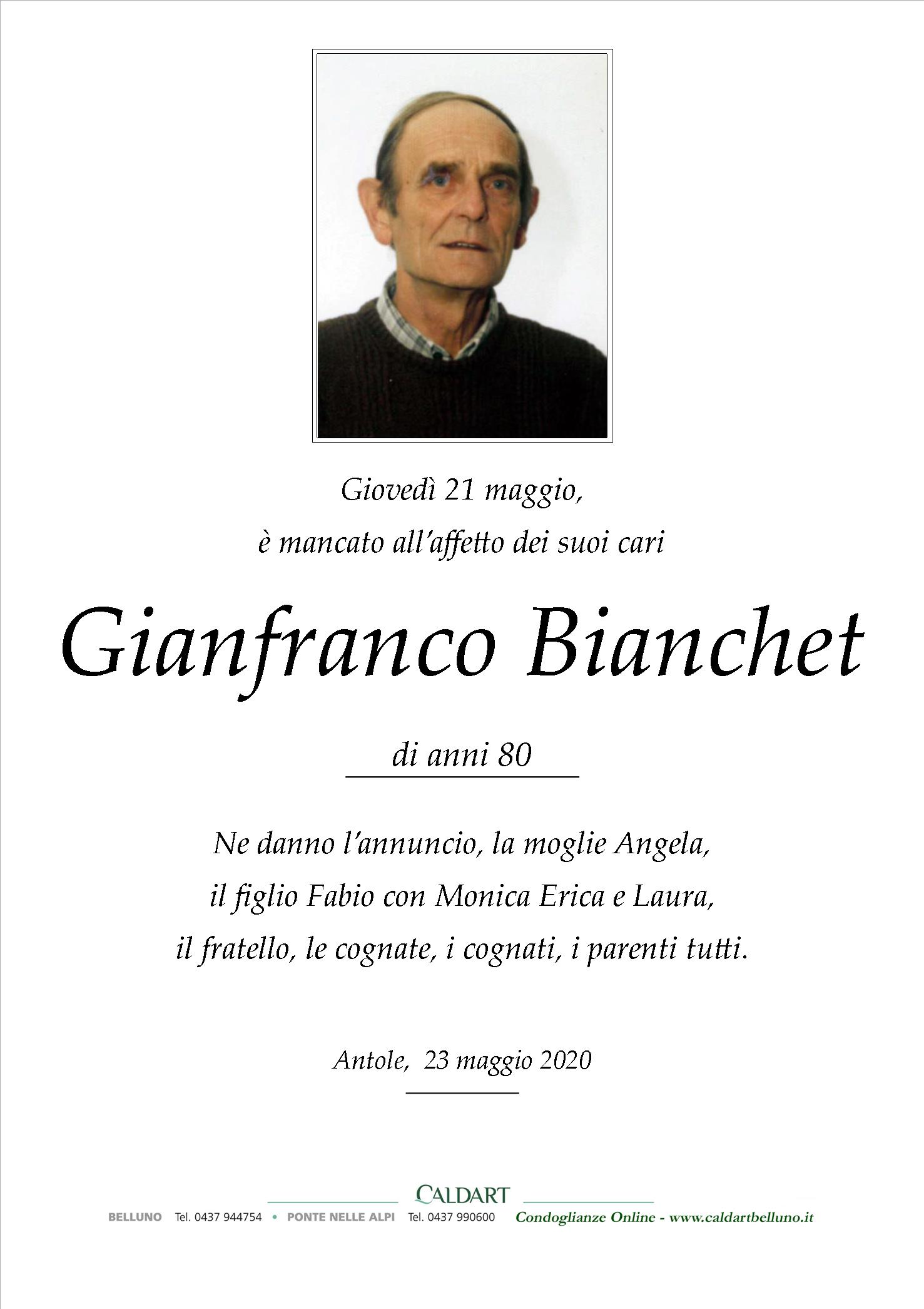 Bianchet Gianfranco